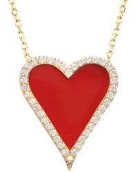 Gabi Rielle Gold Over Silver Cz Necklace - Red