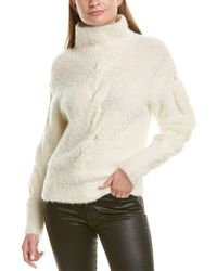 Theory Turtleneck Mohair & Wool-blend Jumper - White