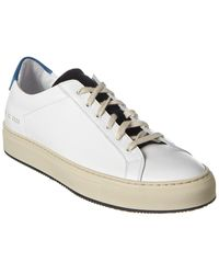 Common Projects Retro Leather & Suede Sneaker - White