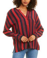 Acrobat Bronte Silk Top - Red