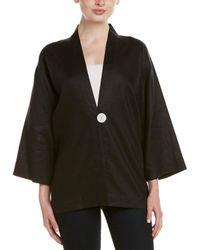 Go> By Go Silk Linen Jacket - Black