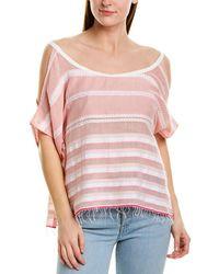 lemlem Zena Embroidered Off-shoulder Top - Pink