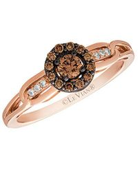 Le Vian ? 14k Rose Gold 0.28 Ct. Tw. Diamond Ring - Metallic