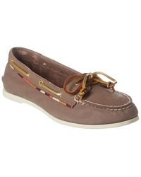Sperry Top-Sider Audrey Leather Boat Shoe - Gray