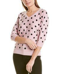 Joan Vass Elbow-sleeve Jumper - Pink