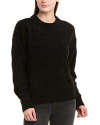 BCBGMAXAZRIA Fuzzy Pullover - Black