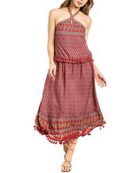 Raga Avah Halter Maxi Dress - Red