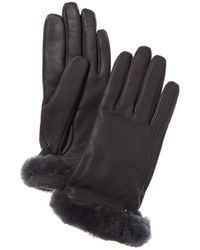 UGG Classic Leather Tech Gloves - Gray