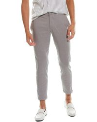 Theory Curtis Linen-blend Pant - Grey
