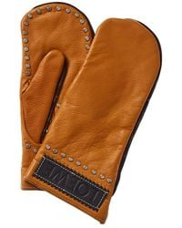 Loewe Leather Gloves - Brown