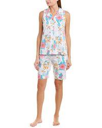 Carole Hochman - 2pc Pajama Top & Short Set - Lyst