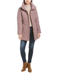 Cole Haan Signature Quilted Down Jacket - Pink