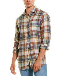 Sid Mashburn Slim Fit Linen Sport Shirt - Green