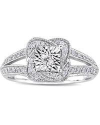 Rina Limor 10k 0.19 Ct. Tw. Diamond Split Shank Ring - Metallic