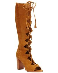 Frye - Gabby Ghillie Tall Suede Boot - Lyst