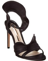 Sophia Webster Lucia Satin Sandal - Black