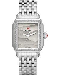 Michele Deco Diamond Watch - Metallic