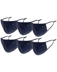 Tailor Vintage Pack Of 6 Puretec Cool Nanofiber Filter Face Masks - Blue