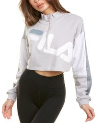 Fila Kaia 1/2-zip Cropped Sweatshirt - White