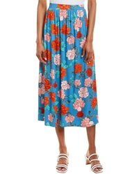 Rachel Pally Slim Midi Skirt - Blue