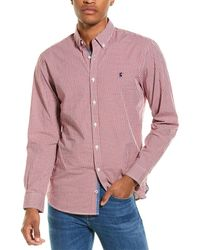 Joules Blythe Classic Fit Woven Shirt - Purple