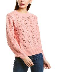 Velvet By Graham & Spencer Cersei Wool & Alpaca-blend Jumper - Pink