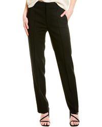 Vince High-waist Wool-blend Tailored Pant - Black
