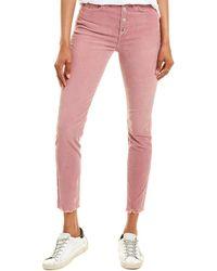 Rag & Bone Nina Skinny Corduroy Jeans In Mauve - Purple