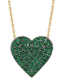 Gabi Rielle - 14k Over Silver Cz Heart Necklace - Lyst