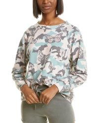 Wildfox Sommers Butterfly Camo Sweatshirt - White