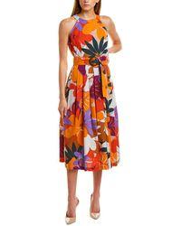 Donna Morgan Floral Midi Dress - Pink