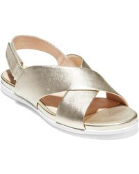 Cole Haan Grand Ambition Leather Sandal - Metallic