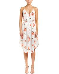 Haute Hippie Lace-up A-line Dress - Red