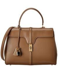 Celine Medium 16 Leather Satchel - Multicolour