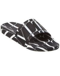 Valentino Garavani Vltn Rubber Slide - Black
