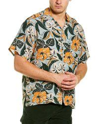 R13 Hawaiian Shirt - Blue