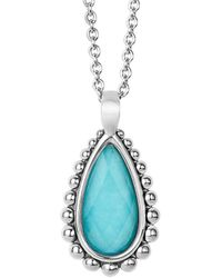 Lagos - Maya Silver Turquoise Doublet Necklace - Lyst