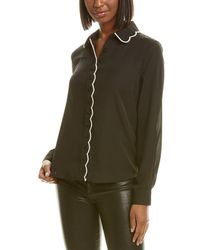 Laundry by Shelli Segal Scalloped Top - Black
