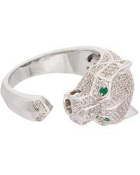 Effy - Fine Jewelry 14k 1.06 Ct. Tw. Diamond & Emerald Ring - Lyst