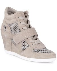 Ash Bowie Suede & Mesh Wedge Trainer