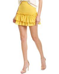 LPA Two Tier Ruffle Skirt - Yellow