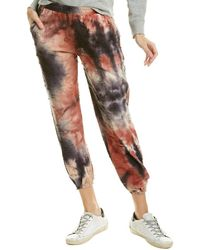 Fate Distressed Jogger Pant - Red