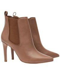 Reiss - Raimonda Leather Ankle Boot - Lyst