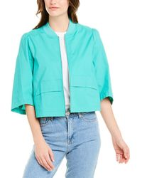 BCBGeneration Ripstop Cropped Bomber Jacket - Green