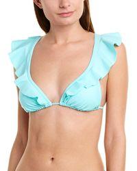 Shoshanna Swimwear Ruffle String Bikini Top - Green
