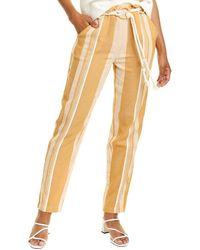 lemlem Derartu Paperbag Pant - Yellow