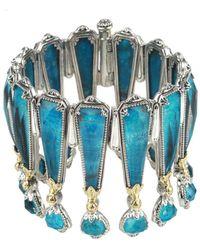 Konstantino Iliada 18k & Silver Chrysocolla Bracelet - Blue