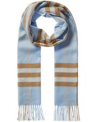 Burberry Giant Check Cashmere Scarf - Blue