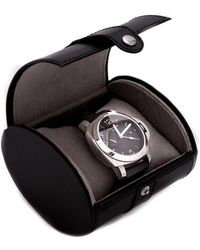 Bey-berk Leather Travel Single-watch Case - Black
