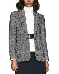 Reiss Tori Wool-blend Jacket - Gray